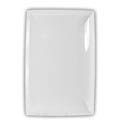 "Thunder Group 12-1/2"" x 8"" Classic White Melamine Tray"