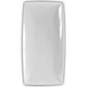 "Thunder Group 9-1/2"" x 5-1/4"" Classic White Melamine Tray"