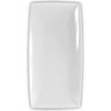 "Thunder Group 16-1/8"" x 8"" Classic White Melamine Tray"