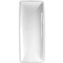 "Thunder Group 20"" x 8"" Classic White Melamine Tray"