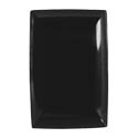 Thunder Group 12-1/2\x22 x 8\x22 Classic Black Melamine Tray