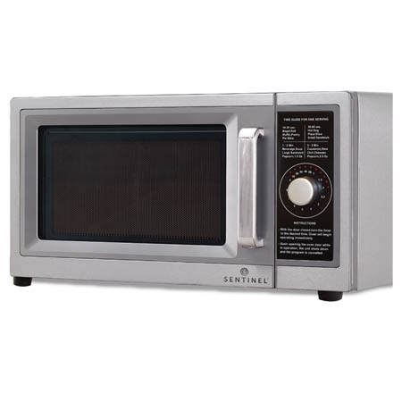 "Sentinel 1 cu. ft. 1000 Watt Light Duty Microwave Oven with Dial Timer 20""W"