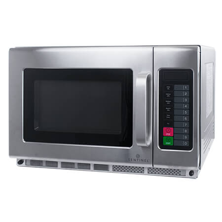 "Sentinel 1.2 cu. ft. 1800 Watt Commercial Microwave with Touch Pad 23""W"