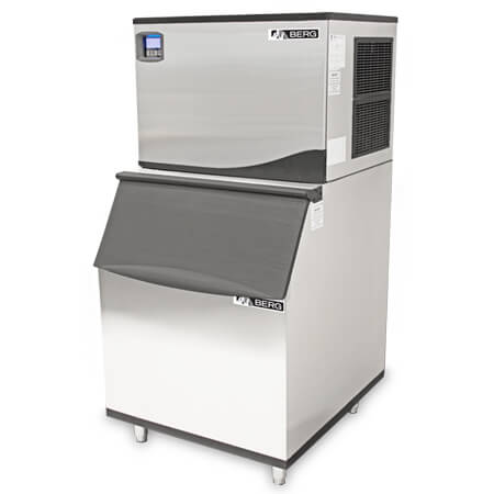 "Berg Full Dice 521 lb. Ice Machine with 430 lb. Bin 30""W"