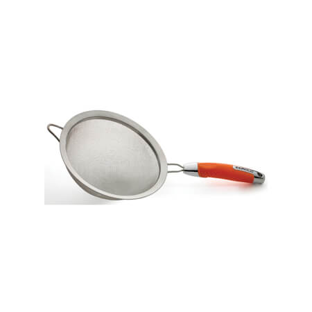 "Zeroll Stainless Steel 8"" Strainer with Sunset Orange Handle"