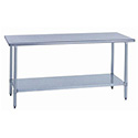 "Sauber All Stainless Steel Work Table with Adjustable Undershelf 30""W x 24""D x 34""H"