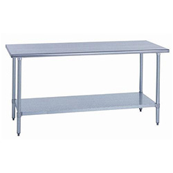 "Sauber All Stainless Steel Work Table with Adjustable Undershelf 36""W x 30""D x 34""H"