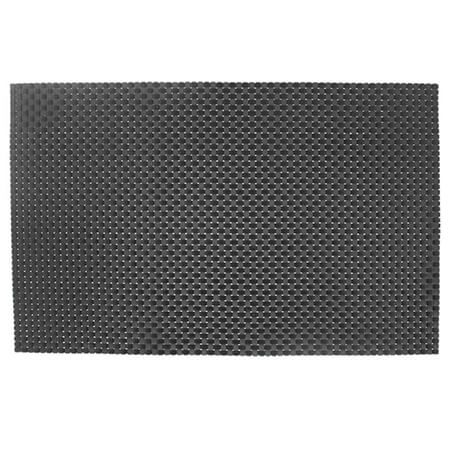 "Ritz Woven Charcoal Placemat 13"" x 19"""