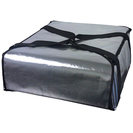 "Silver Insulated Pizza Delivery Bag 18""L x 18""W x 5""H"