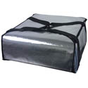 Silver Insulated Pizza Delivery Bag 18\x22L x 18\x22W x 5\x22H