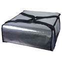 Silver Insulated Pizza Delivery Bag 18\x22L x 18\x22W x 9\x22H