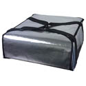 Silver Insulated Pizza Delivery Bag 22\x22L x 22\x22W x 9\x22H