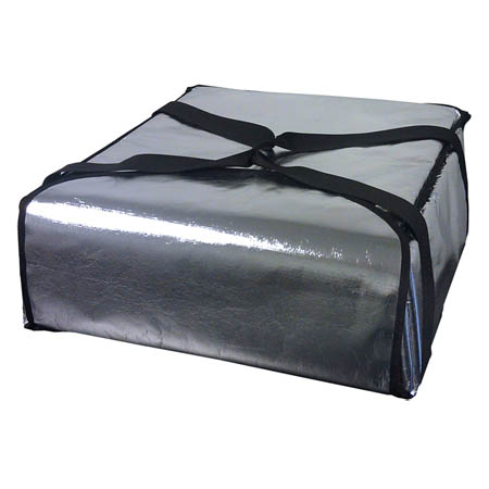 "Silver Insulated Pizza Delivery Bag 22""L x 22""W x 20""H"