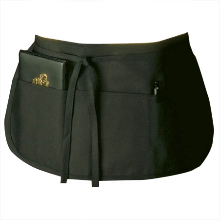 Ritz 3-Pocket Black Reversible Waist Apron
