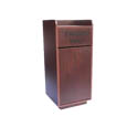 25-Gallon Mahogany Finish Trash Container Enclosure with Tray Bin