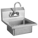 "Sauber Stainless Steel Wall Mount Hand Sink with Faucet 17""W x 15-1/2""D x 5""H"