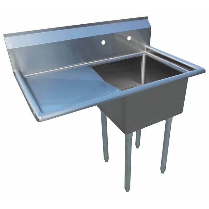 Stainless Steel Sinks With Drainboards : ... Compartment Stainless Steel Sink with 18