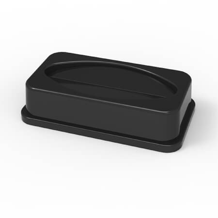 Lid for 23-Gallon Black Wall Hugger Trash Container
