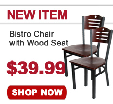 New Bistro Chair with Wood Seat