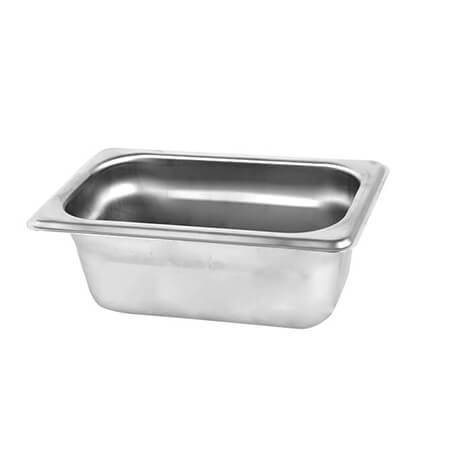 "1/9-Size Anti-Jam Standard Weight Stainless Steel Food Pan 2-1/2"" Deep"