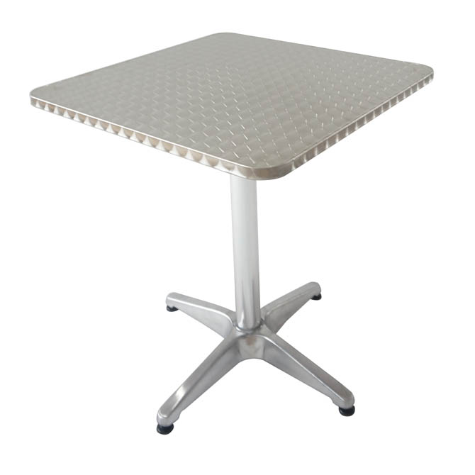 modesto 27 square aluminum patio bistro table