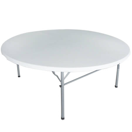 "Modesto 60"" Round Fold in Half Molded Plastic Folding Table"