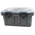 Bradford Hall Gray Insulated Top Loader for Single Food Pan