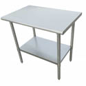 "Sauber Stainless Steel Work Table 24""L x 24""W x 36""H"