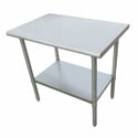 "Sauber Stainless Steel Work Table 36""L x 24""W x 36""H"