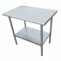 "Sauber Stainless Steel Work Table 48""L x 24""W x 36""H"