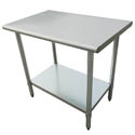 "Sauber Stainless Steel Work Table 60""L x 24""W x 36""H"