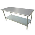 "Sauber Stainless Steel Work Table 72""L x 24""W x 36""H"