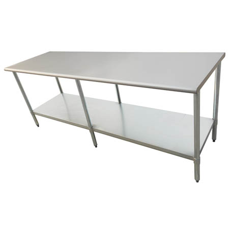 "Sauber Stainless Steel Work Table 96""L x 24""W x 36""H"