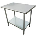 "Sauber Stainless Steel Work Table 30""W x 36""H"