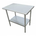 "Sauber Stainless Steel Work Table 60""L x 30""W x 36""H"