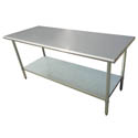 "Sauber Stainless Steel Work Table 72""L x 30""W x 36""H"