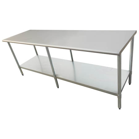 "Sauber Stainless Steel Work Table 96""L x 30""W x 36""H"