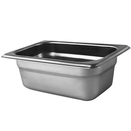 "1/9-Size Anti-Jam Heavy Duty Stainless Steel Food Pan 2-1/2"" Deep"