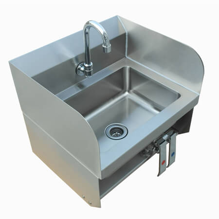 "Sauber Touch-Free Wall Mount Hand Sink with Knee Valves 15""W"