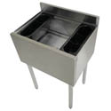 Sauber Stainless Steel Cocktail Station with 12\x22 Deep Ice Bin and 7-Circuit Cold Plate