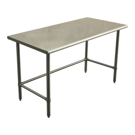 "Sauber Select Heavy Duty All Stainless Steel Open Base Work Table 30"" x 72"" x 36""H"