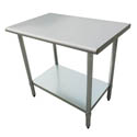 "Sauber All Stainless Steel Work Table with Adjustable Undershelf 48""W x 24""D x 36""H"