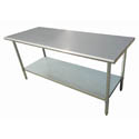 "Sauber All Stainless Steel Work Table with Adjustable Undershelf 60""W x 24""D x 36""H"