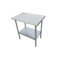 "Sauber All Stainless Steel Work Table with Adjustable Undershelf 60""W x 30""D x 36""H"