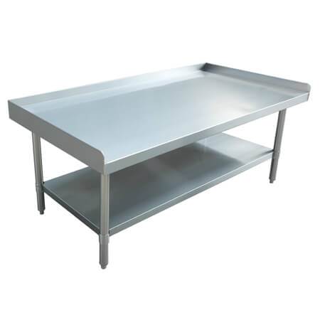 "Sauber Select Stainless Steel Equipment Stand with 2"" Risers 30""L x 48""W x 24""H"