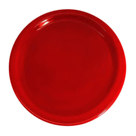 "LaSalle Manor 10"" Round Red Dinner Plate"