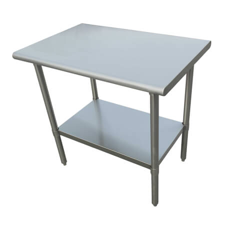 "Sauber Select Heavy Duty All Stainless Steel Work Table With Undershelf 24"" x 36"" x 36""H"