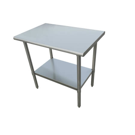 "Sauber Select Heavy Duty All Stainless Steel Work Table With Undershelf 30"" x 36"" x 36""H"