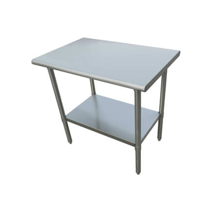"Sauber Select Heavy Duty All Stainless Steel Work Table With Undershelf 30"" x 48"" x 36""H"