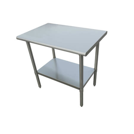 "Sauber Select Heavy Duty All Stainless Steel Work Table With Undershelf 30"" x 60"" x 36""H"